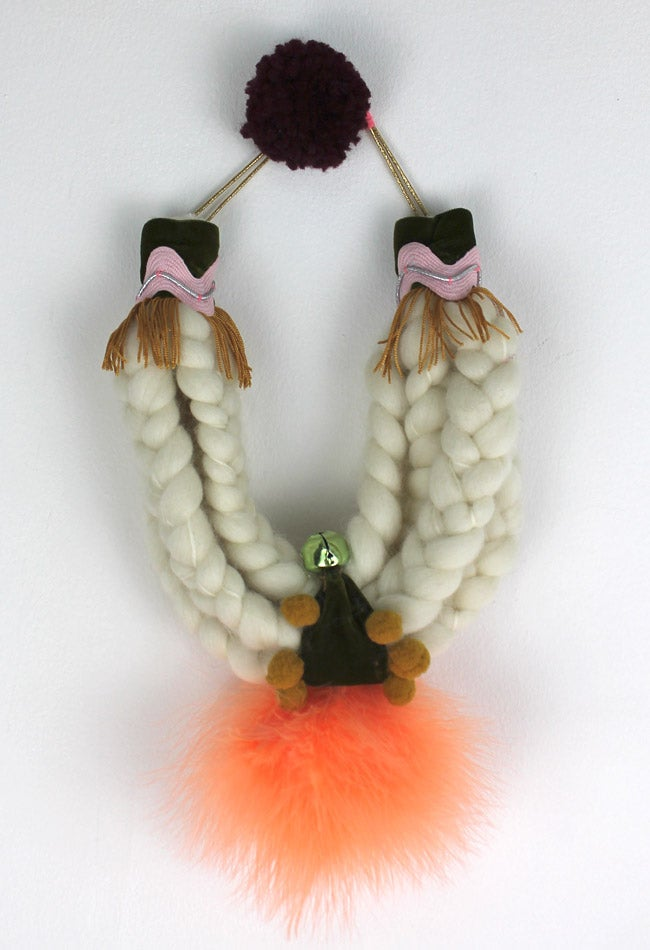 Image of WOOL + TANGERINE FEATHERS COLLAR