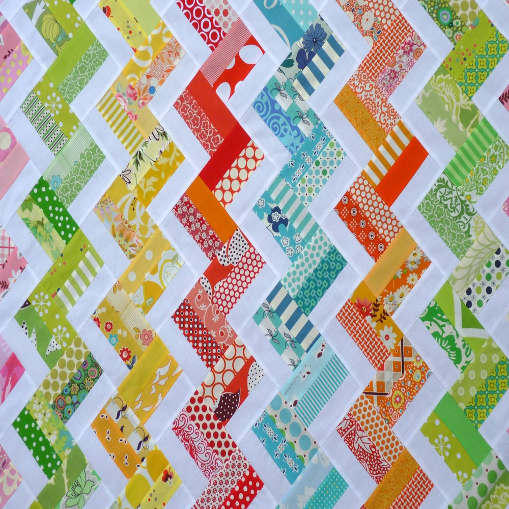 Hello Zig Zag Quilt Pattern : Zig Zag Rail Fence Quilt Pattern (pdf file) / Red Pepper Quilts
