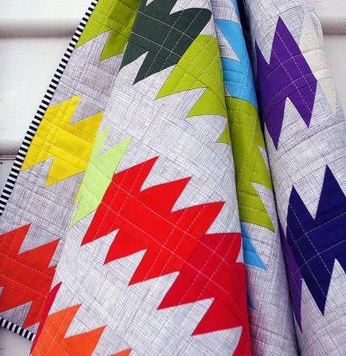 Image of The Rainbow Ripple Quilt Pattern (pdf file)