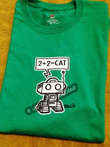Image of Robot 2+2=Cat Shirt