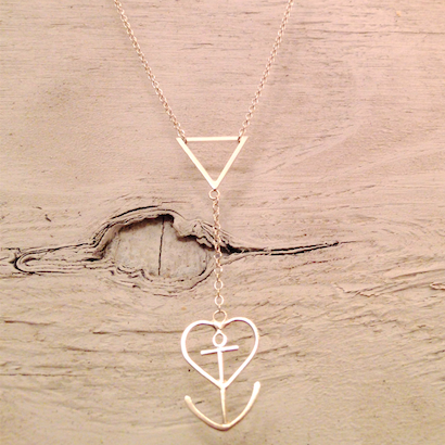 Image of Heart+Anchor Lariat Necklace