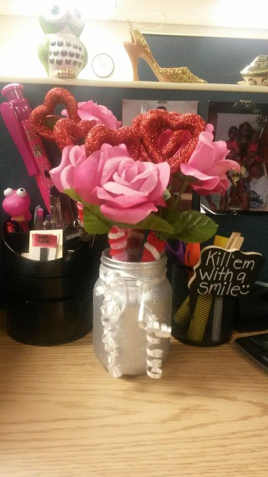 Image of Valentines Day Pen Bouquet  Mason Jar Set