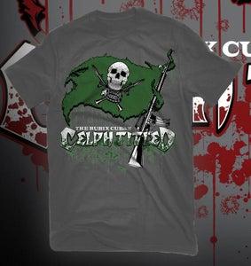 Image of Celph Titled Green Flag Logo T-Shirt - Grey Tee