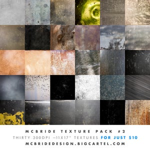 Image of McBride Texture Pack 2 (30 300dpi Textures)