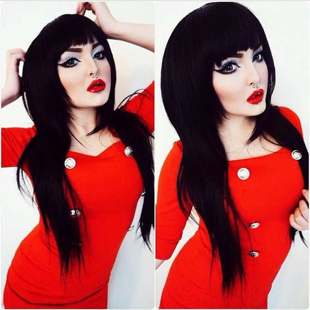 Image of Salem, Black Layered Long Gothic Lolita Cosplay Wig