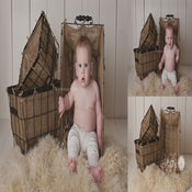 Image of Burlap Wire Baskets - Vintage Style - THREE Sizes - NEW - Photography Prop