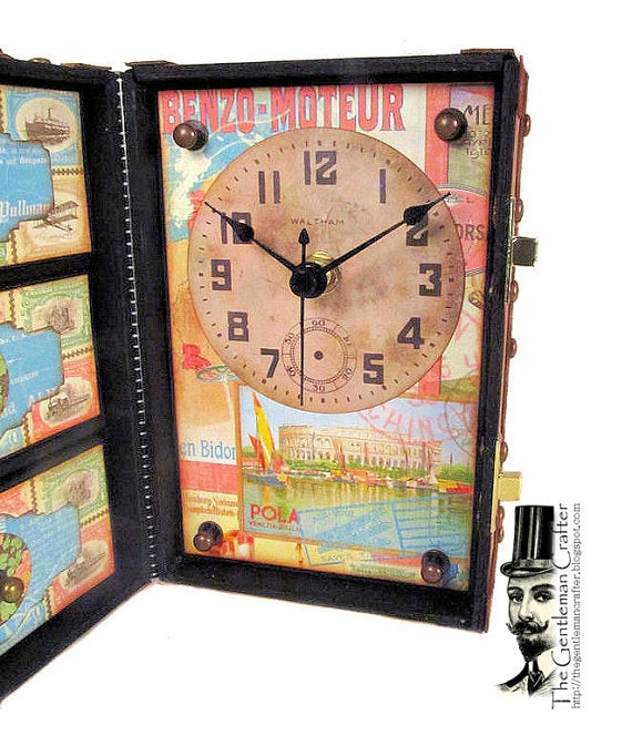 Image of The Vintage Trunk Desk Clock Tutorial - Instant DL