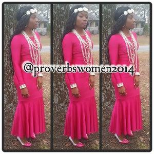 Image of pink passion mermaid dress