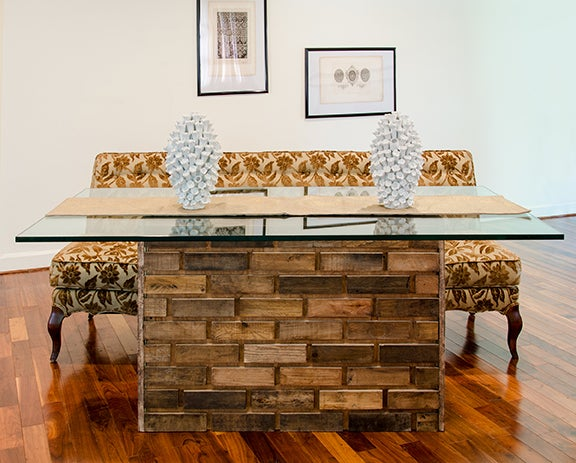 Image of 6 foot Maurer table / Brick style table
