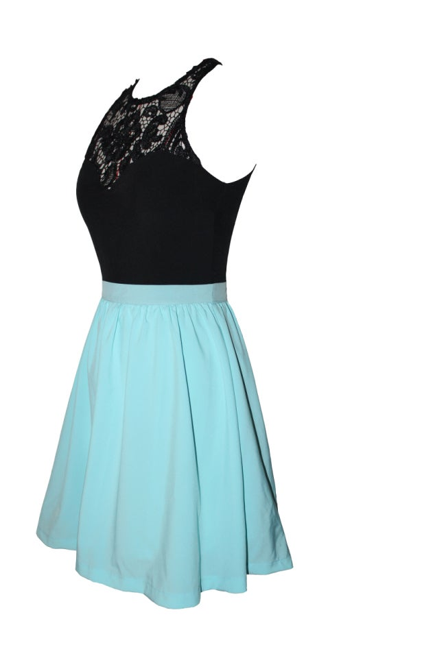Image of FASHION CUTE LACE CHIFFON DRESS - b 9