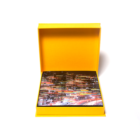 "Image of ""City of Darkness Revisited"" in a clamshell case, with 8x10 print (signed on verso)."