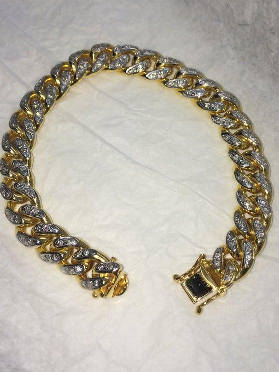 Image of 10kt Diamond Miami Cuban Bracelet