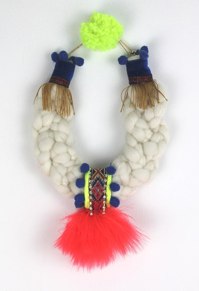 Image of WOOL + CORAL FEATHERS COLLAR
