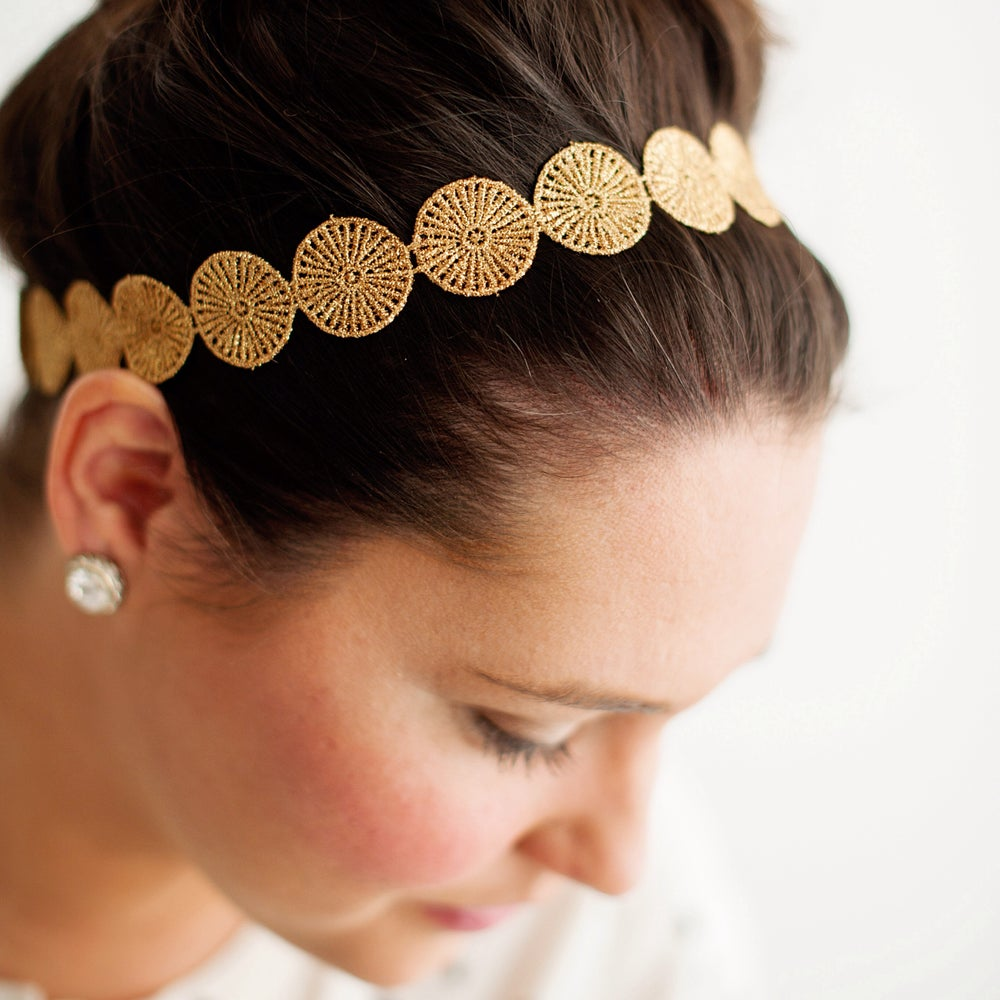 Image of Blake Gold Headband - Adult