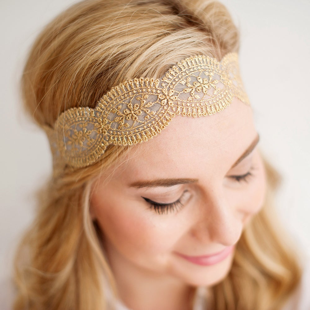 Image of The Daisy Lace Headband Adult