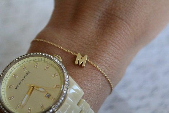 Image of Dainty Upper case Chain Bracelet