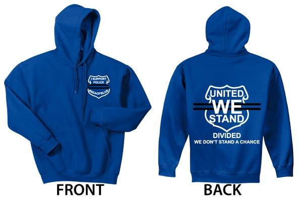 Image of Sea Of Blue - I Support Police PULLOVER HOODIE