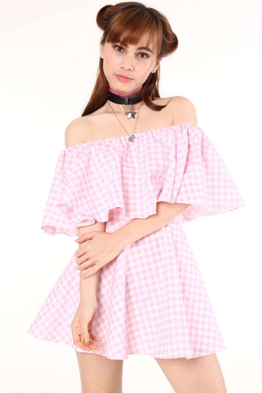 Image of Lolita Pink Gingham Set