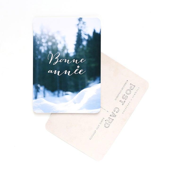 Image of Carte Postale BONNE ANNÉE / SNOW