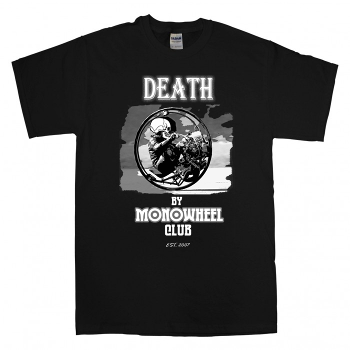 Image of The Death by Monowheel Club T-shirt