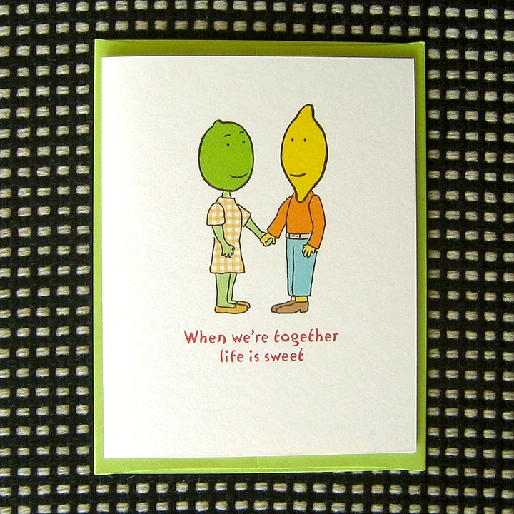 Image of SWEET 'N SOUR GREETING CARD