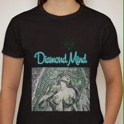 Image of WOMENS BLACK DIAMOND MIND TSHIRT