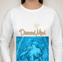 Image of WOMENS WHITE DIAMOND MIND LONGSLEEVE
