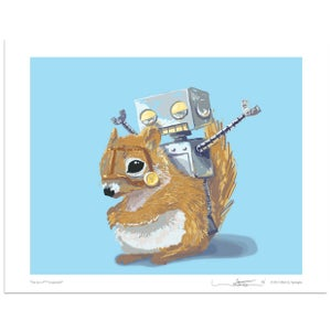 I'm on an F'n Squirrel! - Robot Art by Matt Q. Spangler