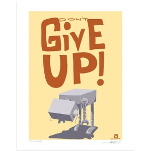 Don't Give Up Print - Matt Q. Spangler Illustration