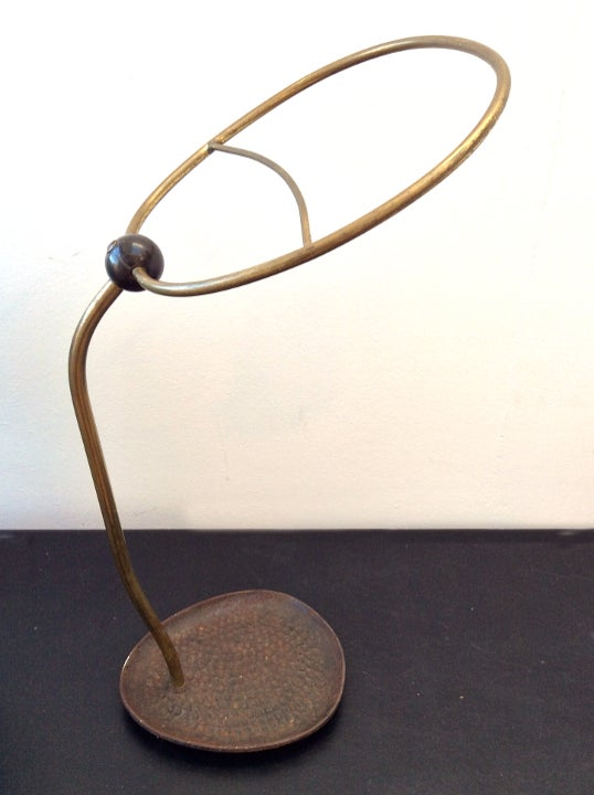 Image of 1950s Brass Umbrella Stand