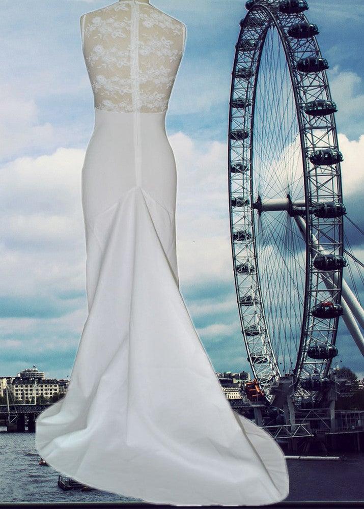 Image of HOT SEXY ELEGANT LONG WEDDING LACE DRESS