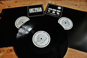 "Image of Preorder: LISBENT X PECKERHEAD-  EAT PILLS LISTEN TO TECHNO 12"" EP"