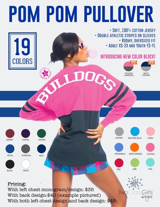 Image of Custom Pom Pom Oversized Pullover