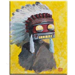 The Big Chief Painting - Matt Q. Spangler Illustration