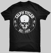 Image of Celph Titled Skull Logo T-Shirt - Black Tee