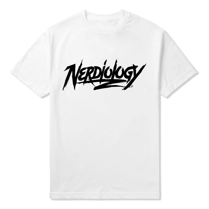 Image of Nerdiology Script Logo (White )