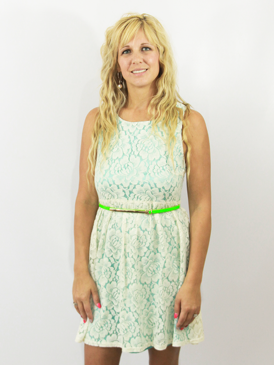 Image of Forget Me Not Lace Dress (only medium left!)