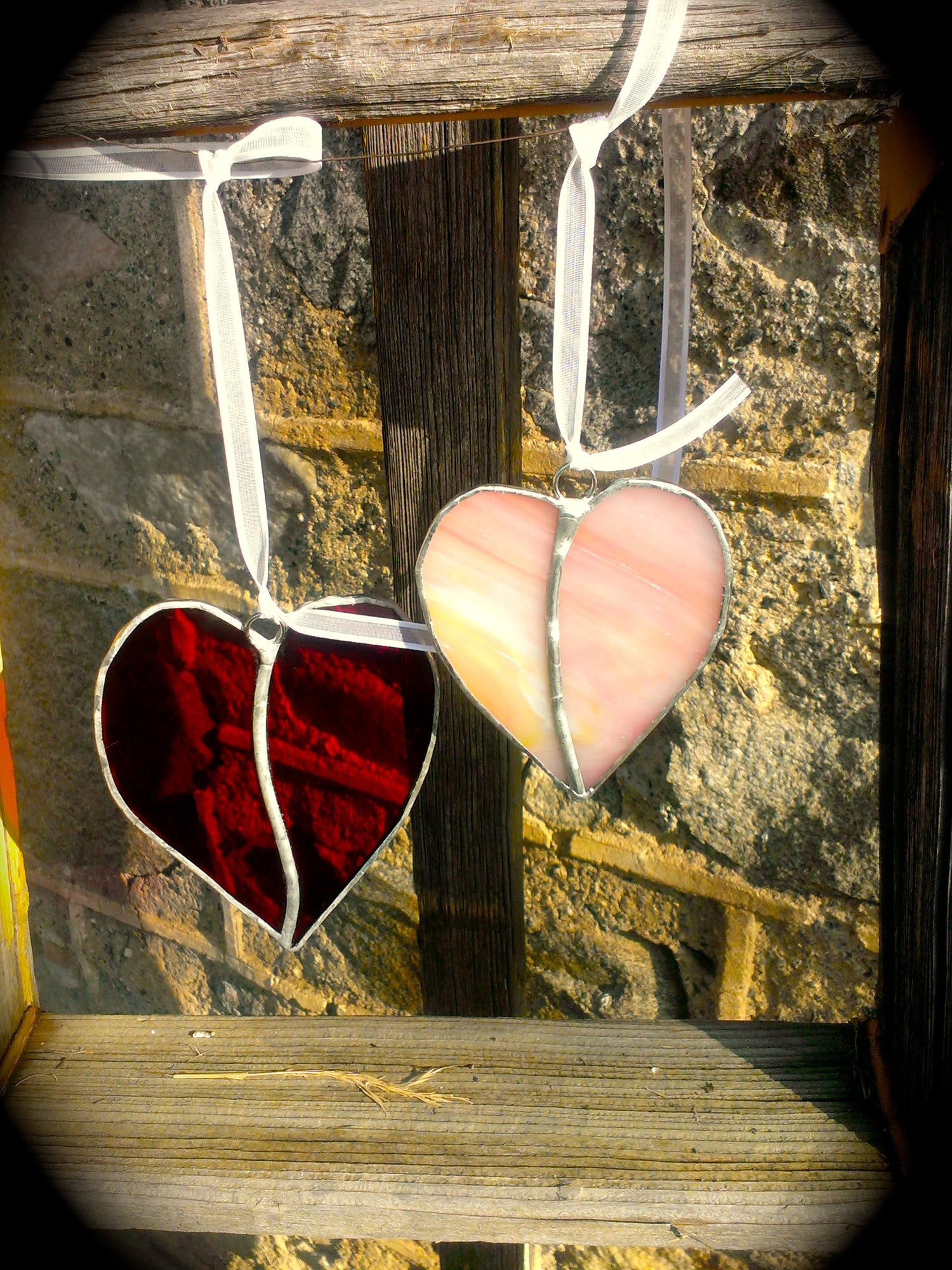 Image of Deluxe Valentine Set-stained glass