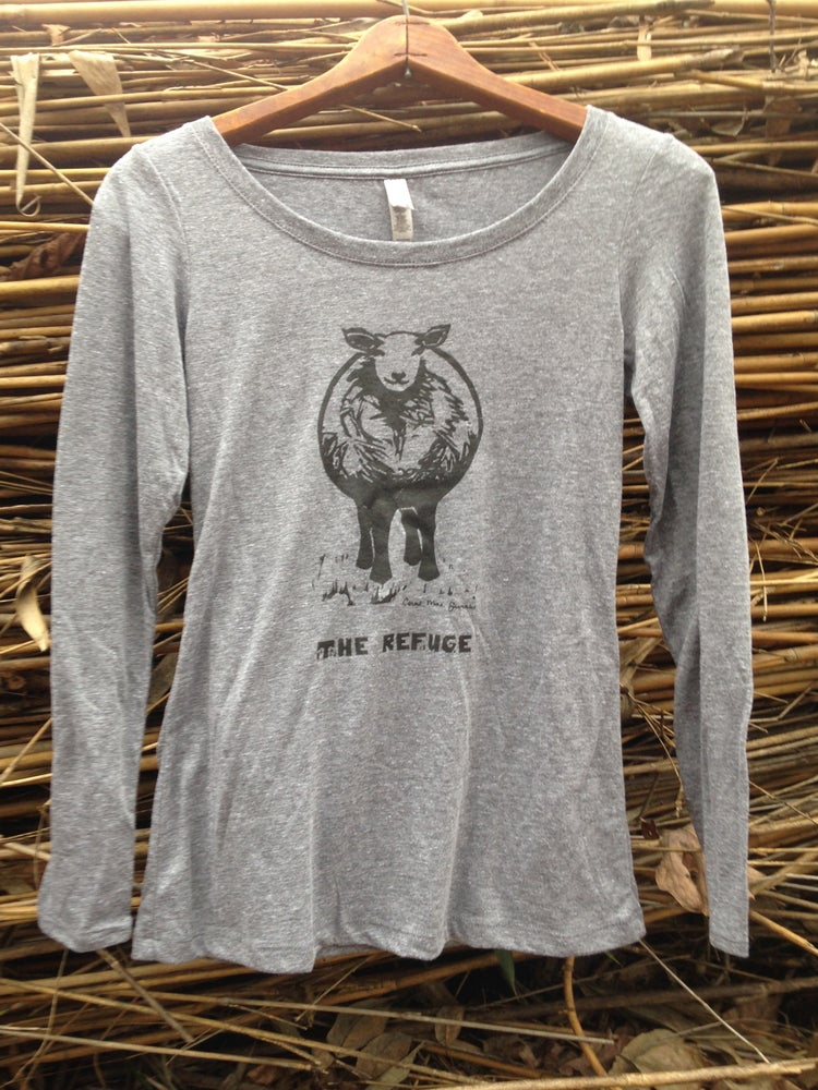 Image of Women | long sleeve, heather grey, Sheep logo