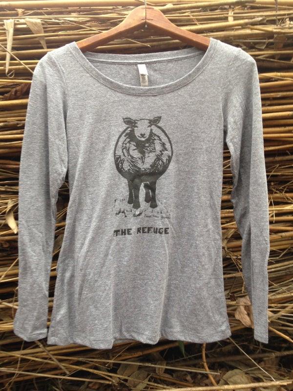 Image of Women   long sleeve, heather grey, Sheep logo