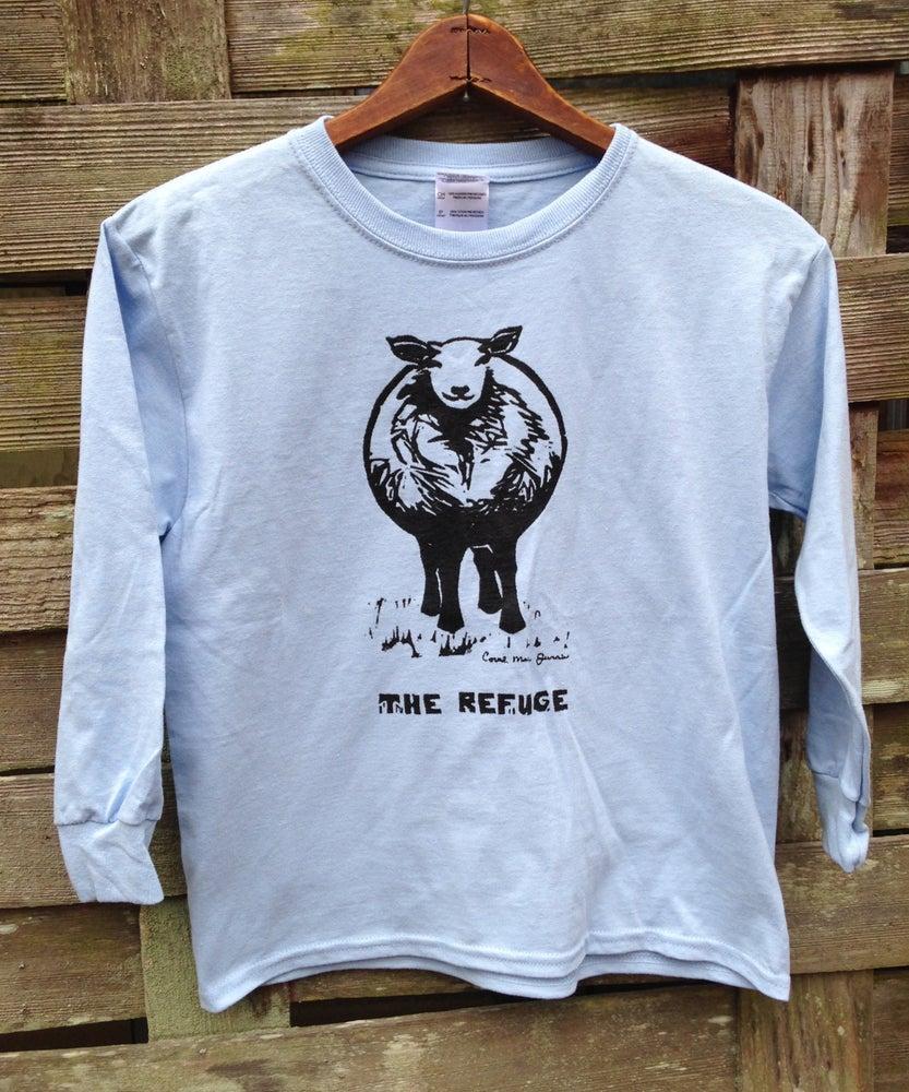 Image of Youth| long sleeve, light blue, Sheep logo