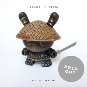 "Image of Double Edged - Custom 3"" Kidrobot Dunny"