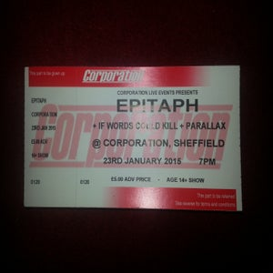 Image of Corporation Tickets 23/01/2015