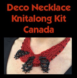 Image of Red Deco Necklace Knitalong Kit - Canada