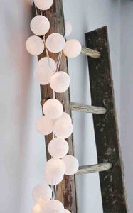 Image of 20 White Handmade Cotton Ball Lights