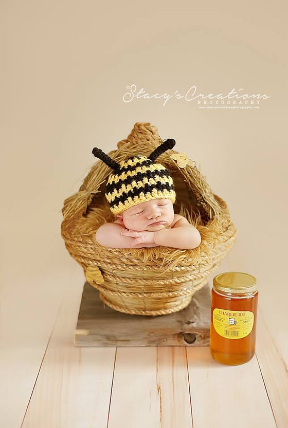 "Image of  Newborn Baby ""Honey Comb"" with Removable Top! Another Woodsy Wonders Original!"