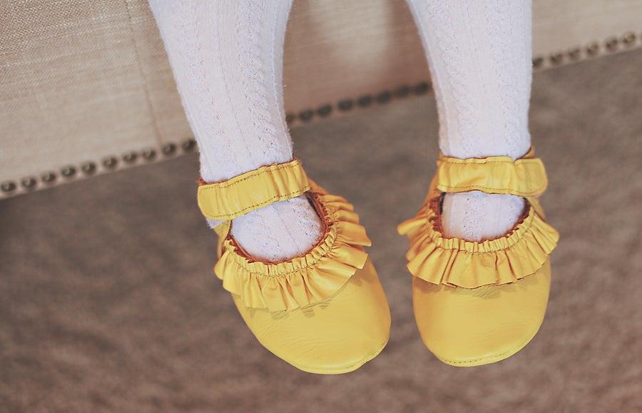 Image of Lemon Ruffle Shoes