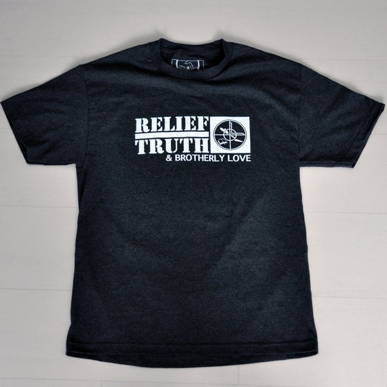 Image of Brotherly Love, Relief, Truth Charcoal T-shirt