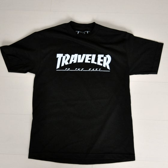 Image of The 'Traveler' Black T-shirt