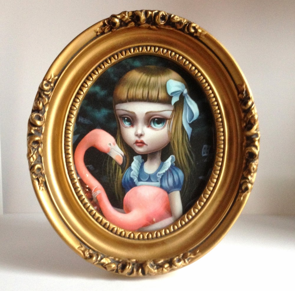 Image of Alice and the Flamingo Croquet By Mab Graves